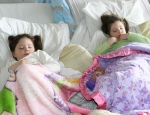 Addi and Cassi  Sleeping During Cyclodextrin Infusions